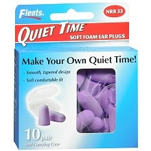 Quiet Time Soft Foam Ear Plugs with Carrying Case, NRR 33