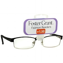 Foster Grant Fashion Readers Metal Reading Glasses Molly +1.50