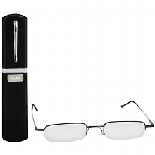 Metal Compact Reading Glasses +2.00, Black