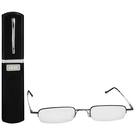 Foster Grant Metal Compact Reading Glasses +2.00