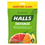 Halls Defense Defense Vitamin C Supplement Drops Assorted Citrus