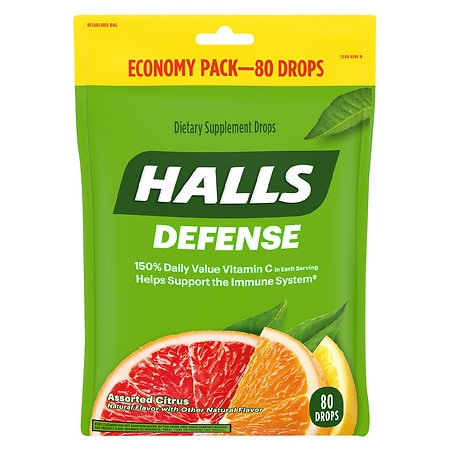 Halls Defense Vitamin C Supplement Drops