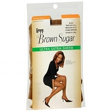 Brown Sugar Regular Panty Sandalfoot Ultra Ultra Sheer Pantyhose Medium/Tall, Honey Brown