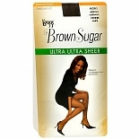 L'eggs Brown Sugar Regular Panty Sandalfoot Ultra Ultra Sheer Pantyhose Medium Coffee