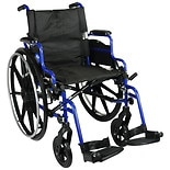 Medline Empower Lightweight Wheelchair Blue