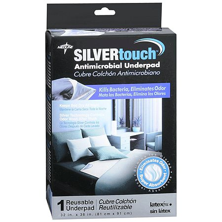 Medline Silvertouch Antimicrobial Underpad 32 in.  x 36 in.