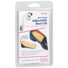 Peel Away Adjustable Heel Lift, Medium