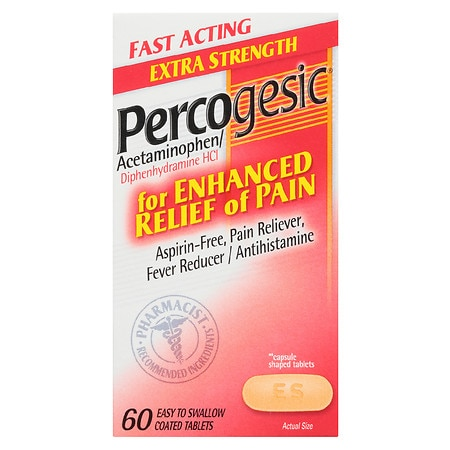 Percogesic Pain Reliever/Fever Reducer/Antihistamine Caplets