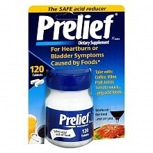 Prelief Acid Reducer Dietary Supplement Tablets