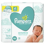 Pampers Stages Sensitive Wipes Refills Perfume Free 3 Pack, 192 ea