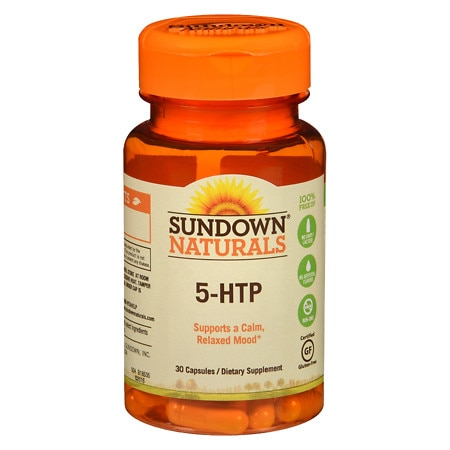 Sundown Naturals 5-HTP Dietary Supplement Capsules
