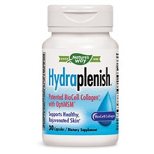 Nature's Way HydraPlenish Hyaluronic Acid Plus MSM Dietary Supplement, Veggie Capsules