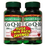 Nature's Bounty Q-Sorb CoQ10 100 mg Dietary Supplement Softgels Twinpack