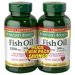 Fish Oil 1200 mg Rapid Release Liquid Softgels Twinpack