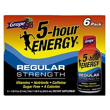 Dietary Supplement Shot 6 Pack, Grape Grape
