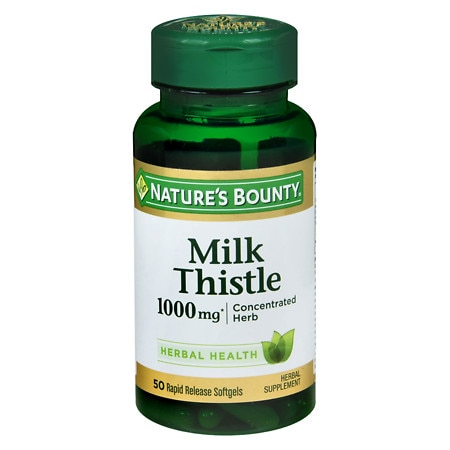 Nature's Bounty Milk Thistle 1000 mg Herbal Supplement Softgels