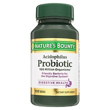 Nature's Bounty Probiotic Acidophilus Dietary Supplement Tablets