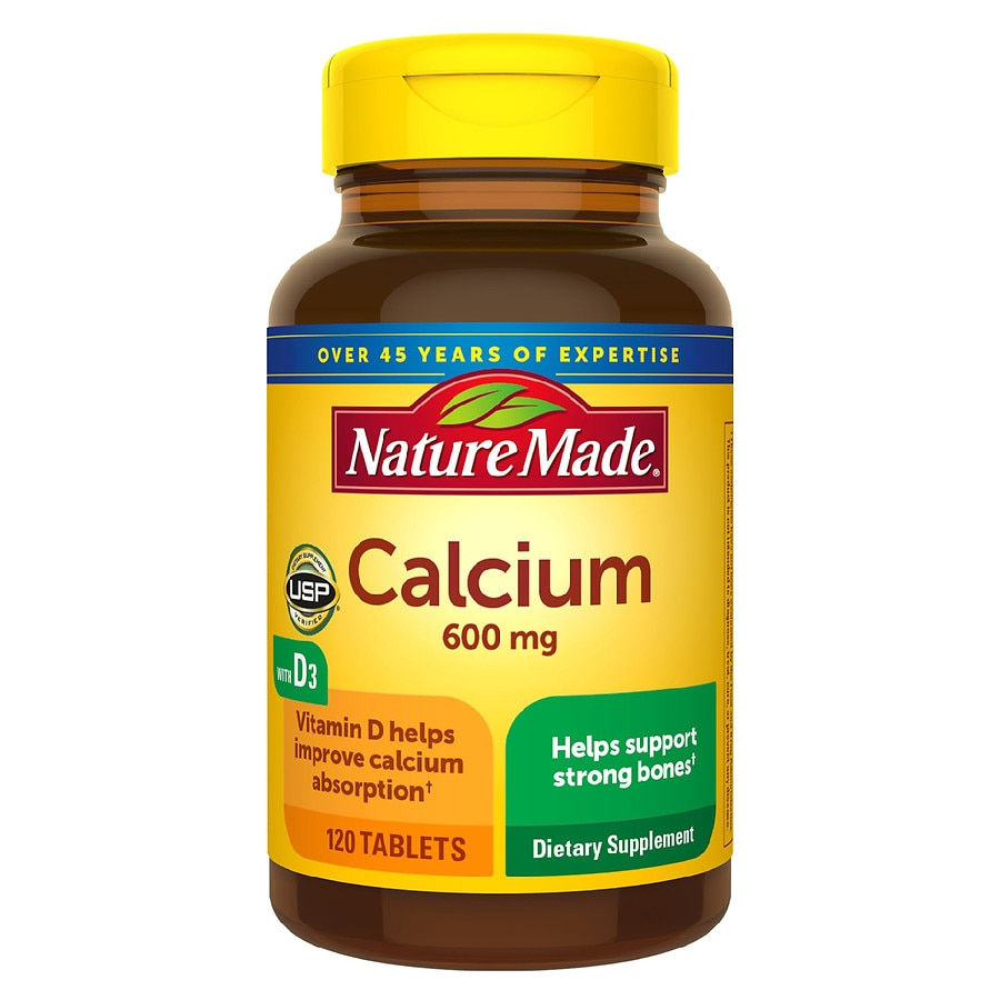 Nature Made Calcium with Vitamin D, 600mg, Tablets | Walgreens