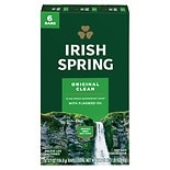 Irish Spring Deodorant Soap Bars 6 Pack Original