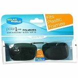 Solar Shield Fits Over Rimless Clip-On Sunglasses 52 RecA Gray