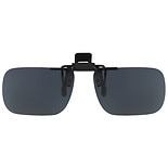 wag-Fits Over Plastic Polarized 54 Rectangle Clip On Flip Up Sunglasses