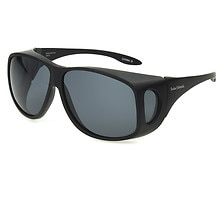 Fits Over Classic Polarized Plastic Sunglasses Size XL, Black
