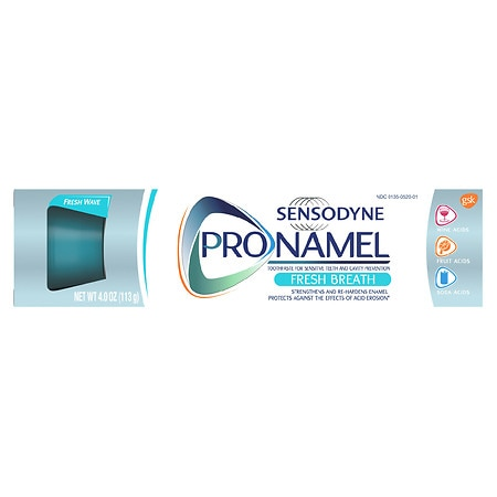 Sensodyne ProNamel Daily Fluoride Toothpaste for Sensitive Teeth Fresh Wave