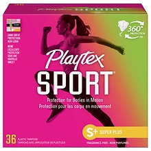 Sport Tampons Plastic Applicator Unscented