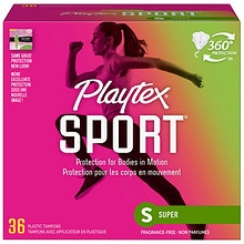 Playtex Sport Tampons Plastic Applicator