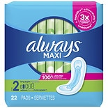 Always Maxi Pads without WingsLong Super
