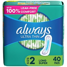 Always Ultra Thin Pads without Wings Unscented,Long Super
