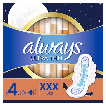 Always Maxi Pads without Wings Unscented,Overnight
