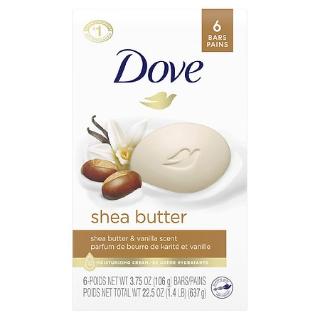 Dove Purely Pampering Beauty Bar Shea Butter with Warm Vanilla,4 oz