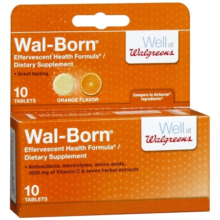 Walgreens Wal-Born Dietary Supplement Effervescent Tablets Orange
