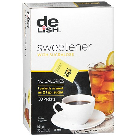 Good & Delish Sweetener Packets 100 Pack with Sucralose