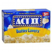 Act II Microwave Popcorn 3 Pack
