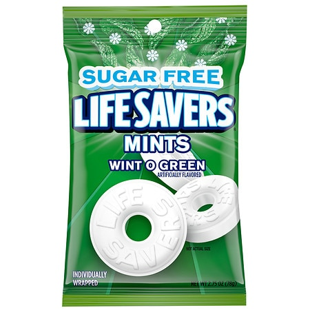 LifeSavers Sugar Free Mints Wint O Green