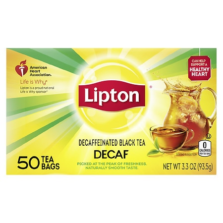 Lipton Black Tea Bags Decaffeinated, 50 pk