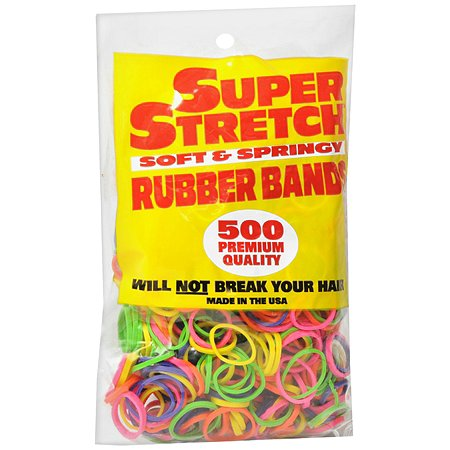 Super Stretch Rubber Bands Bright Variety