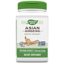 Nature's Way Korean Ginseng Root 560 mg Dietary Supplement