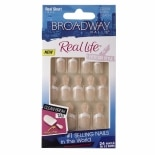 Broadway Nails Real Life Glue-On Nail Kit Real Short Length Peach AnyWear