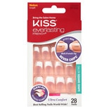 Kiss Everlasting French Nails Kit, Medium Length Square White Tip