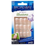Broadway Nails Fast French Sensibly Chic Glue-On Nails Kit Short Length Conceal