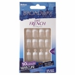 Broadway Nails Fast French Glue-On Nail Kit Pink