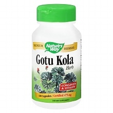 Nature's Way Gotu Kola 475 mg Dietary Supplement Capsules
