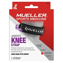Mueller Sport Care Sport Care Left/Right Jumper's Knee Strap Moderate Support Level One Size Black