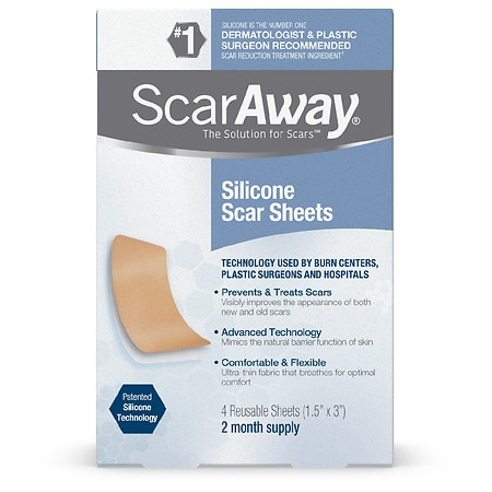 ScarAway Silicone Scar Treatment Sheets 1.5 x 3 inch