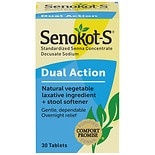Senokot-S S Natural Vegetable Laxative plus Stool Softener Tablets