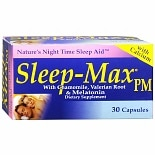 Blue Goo Sleep-Max Dietary Supplement, Capsules