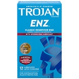 Trojan Enz Spermicidal Lubricated Premium Latex Condoms